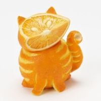 Hahaha - I've never seen a cat made of oranges before. I have now