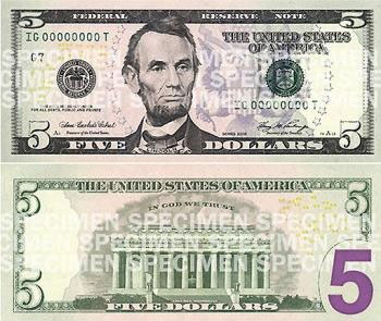 New 5 Dollar Bill 171 Why Evolution Is True