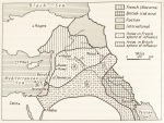 The Sykes-Picot agreement (from Wilson, J. 1990. Lawrence of Arabia: the Authorized Biography).