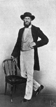 Alfred Russel Wallace (1823-1913) in Singapore, 1862