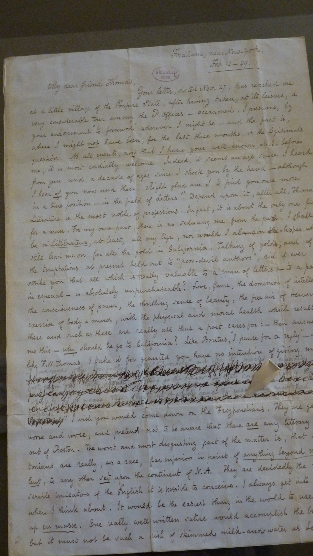 Poe letter