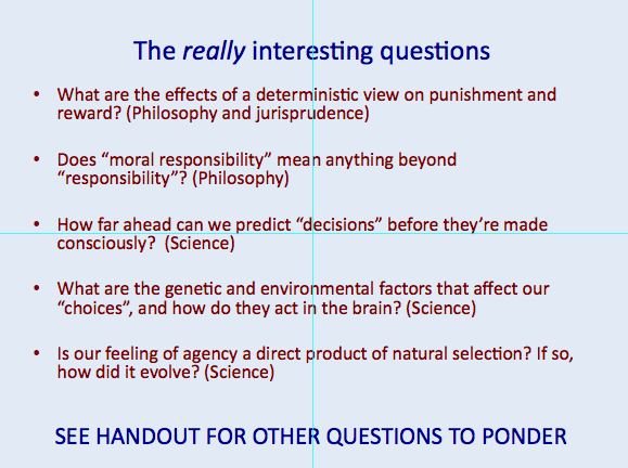 My presentation on Free Will « Why Evolution Is True