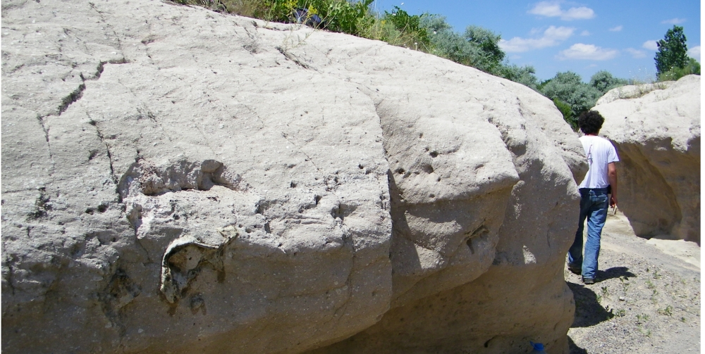A rock in Turkey. With a man in the background for scale. (c) Antoine et al (2012)