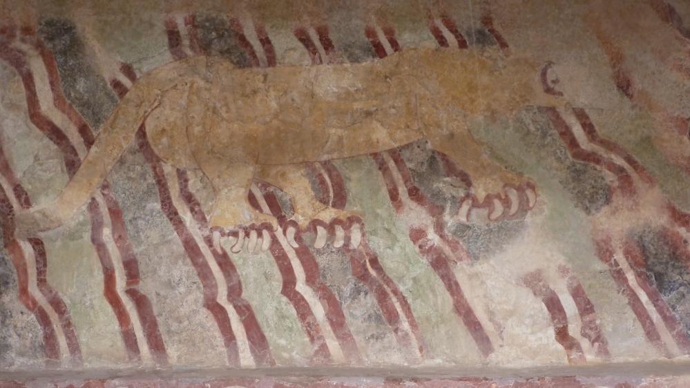 T, jaguar mural