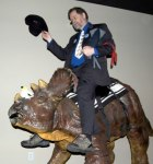 PZ%20Myers%20Riding%20a%20Dino%20at%20the%20Creation%20Museum