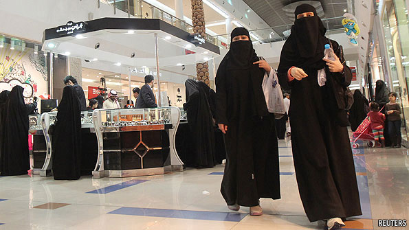 A shopping mall, presumably in Saudi Arabia (photo from Economist article)