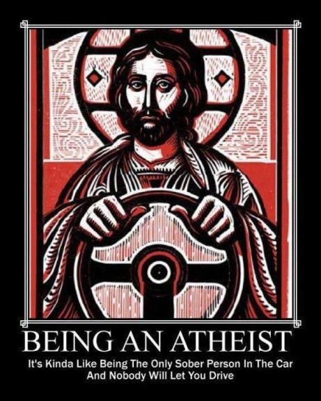 Atheist cartoon