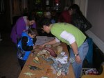 Chris Noto explains about fossils to Museum visitors.