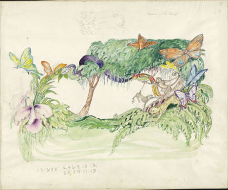 "Float design for ""Darwin on the Beagle"" from 1964."