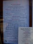 SNOB menu