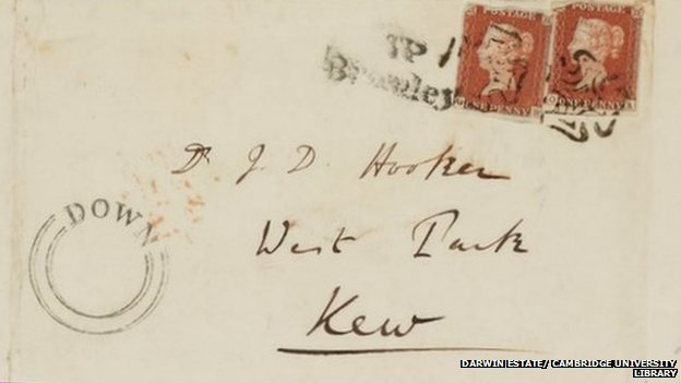 A letter from Darwin to Hooker, who of course lived at Kew