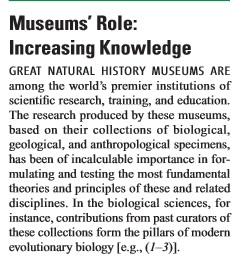 Field Museum Science letter