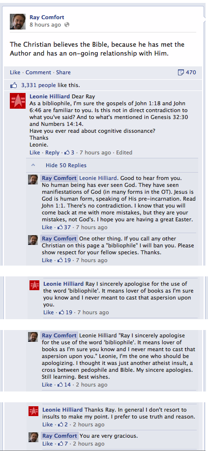 "Ray Comfort thinks that ""bibliophile"" is an insult"