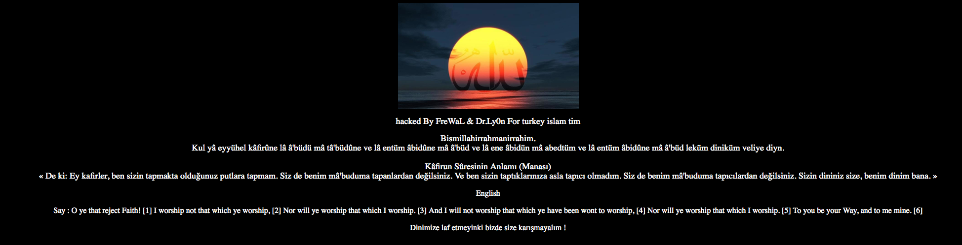 Dawkins Foundation site hacked by Muslims « Why Evolution Is True
