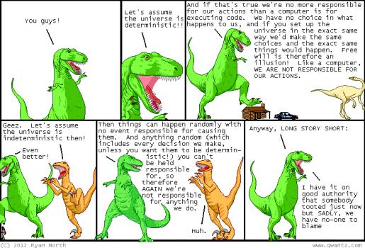 Dinosaur free will