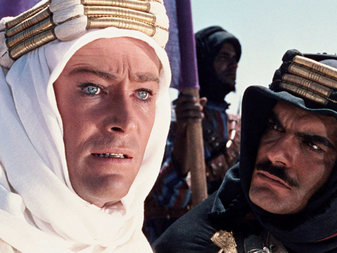 "Peter O'Toole and Omar Sharif in ""Lawrence of Arabia"". (From The New York Times.)"