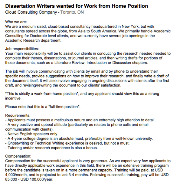 Dissertation writing for payment jobs Academic Ghostwriting Services At last