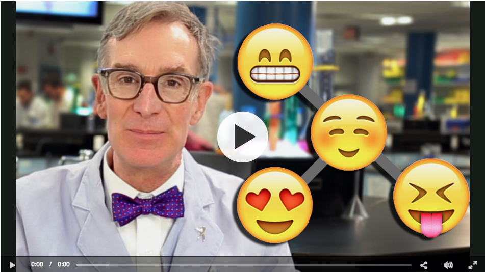 Bill Nye explains evolution (badly) using emoji