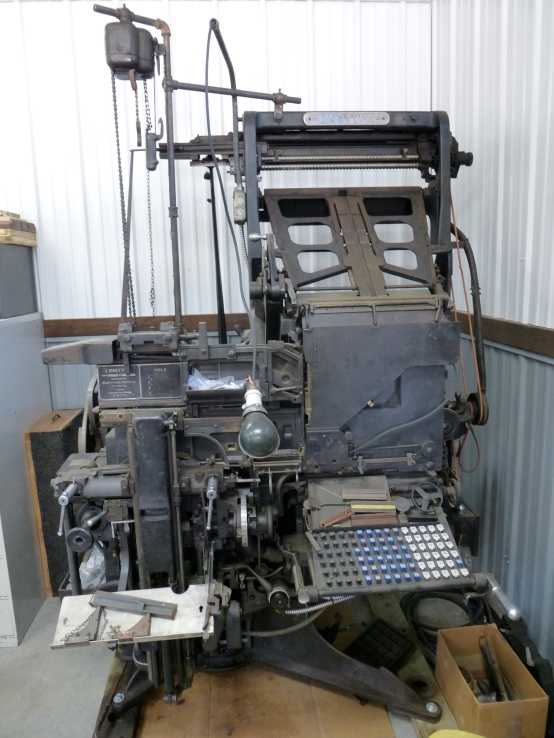 Printer linotype