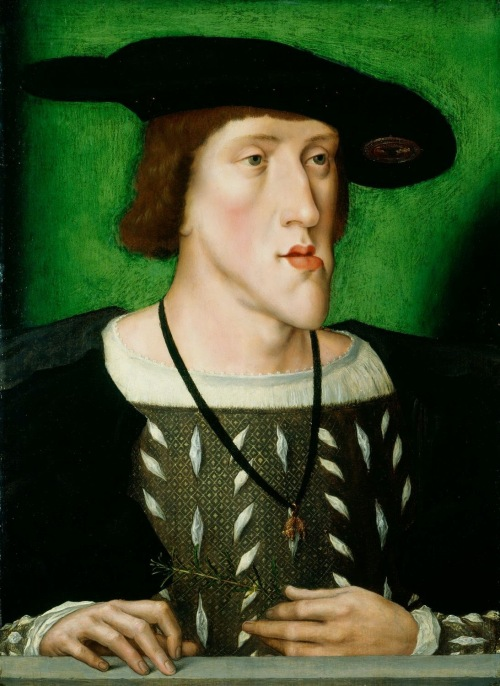 Charles V , Holy Roman Emperor, ca. 1515 (reigned 1519-1556).