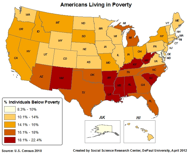 The Correlation Of High Religiosity In America With Everything Bad - Atheism prevalence map us