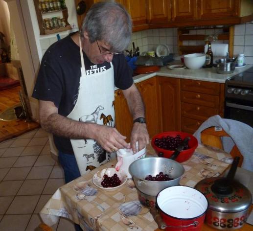 10. pitting cherries