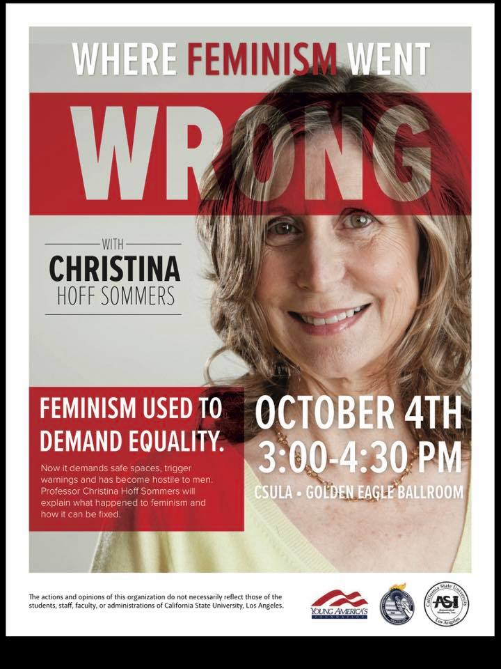 "Feminists remove flyers advertising an ""offensive"" talk by ..."