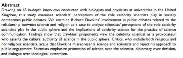 """In defense of Richard Dawkins: Elaine Ecklund and team write a pointless, Templeton-funded paper saying that Dawkins """"misrepresents science"""""""