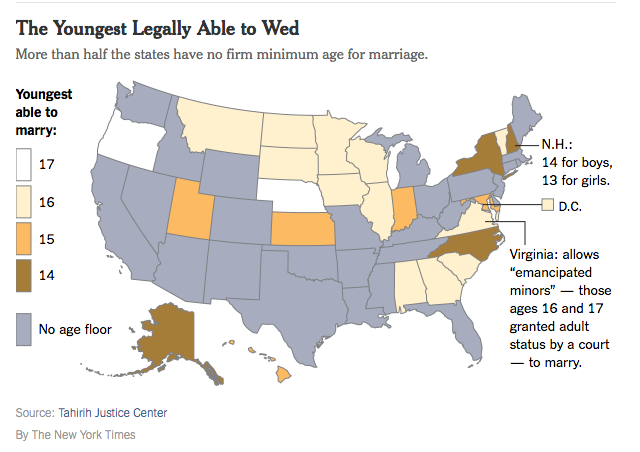 Child Marriage In The US Its Far More Common Than You Think - Map minimum marriage age us