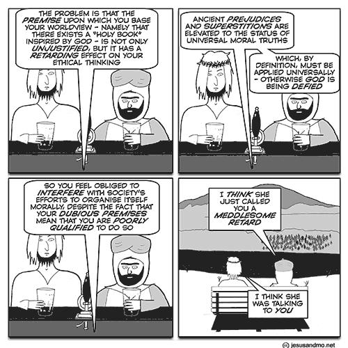 Jesus 'n' Mo 'n' morals « Why Evolution Is True