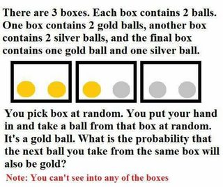 Bertrand's Box paradox: The answer is 2/3!!! « Why Evolution