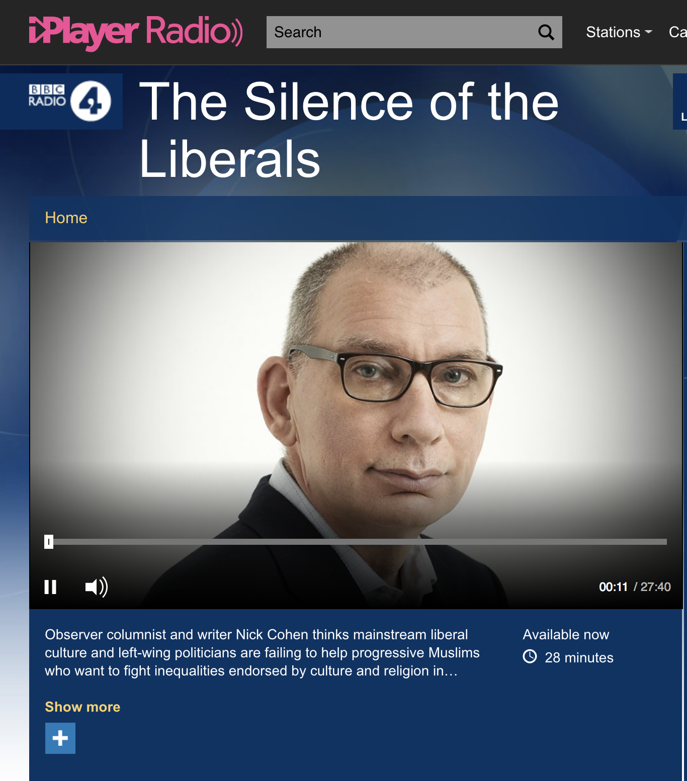 "Nick Cohen's BBC show, ""The silence of the liberals"""