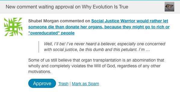 A believer comments: God doesn't want organ donation « Why