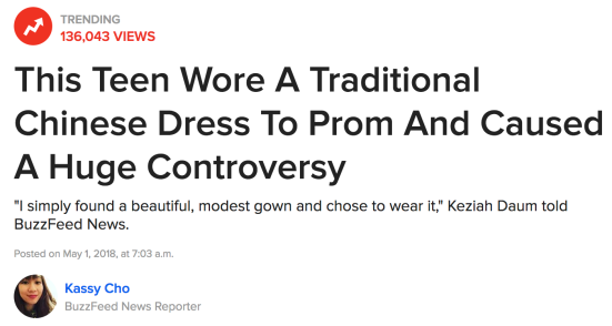 Cultural Appropriation Of A Chinese Dress Causes Big Kerfuffle