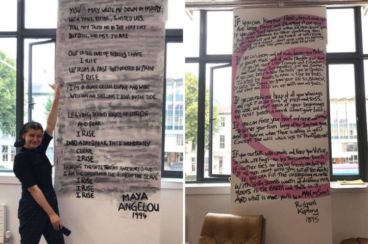 Manchester University students deface mural containing Kipling poem