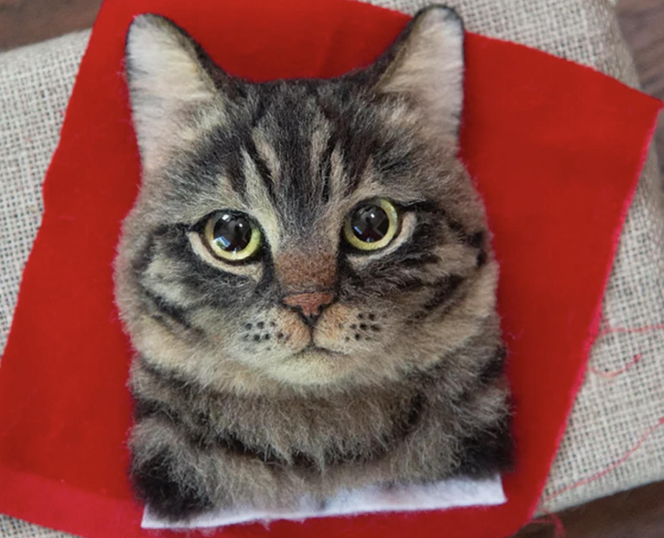 Caturday felid trifecta: Japanese felt cat artist