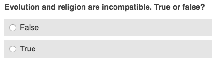 BBC gives a dumb quiz on how much you know about evolution « Why