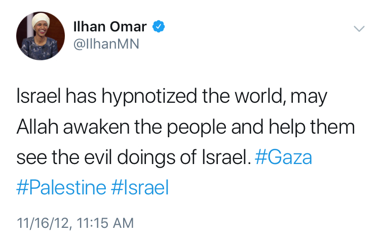 Image result for Congresswoman Omar anti Jewish examples