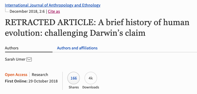 Journal Retracts 16 Year Old Paper >> Springer Apparently Retracts A Creationist Paper But It S Still