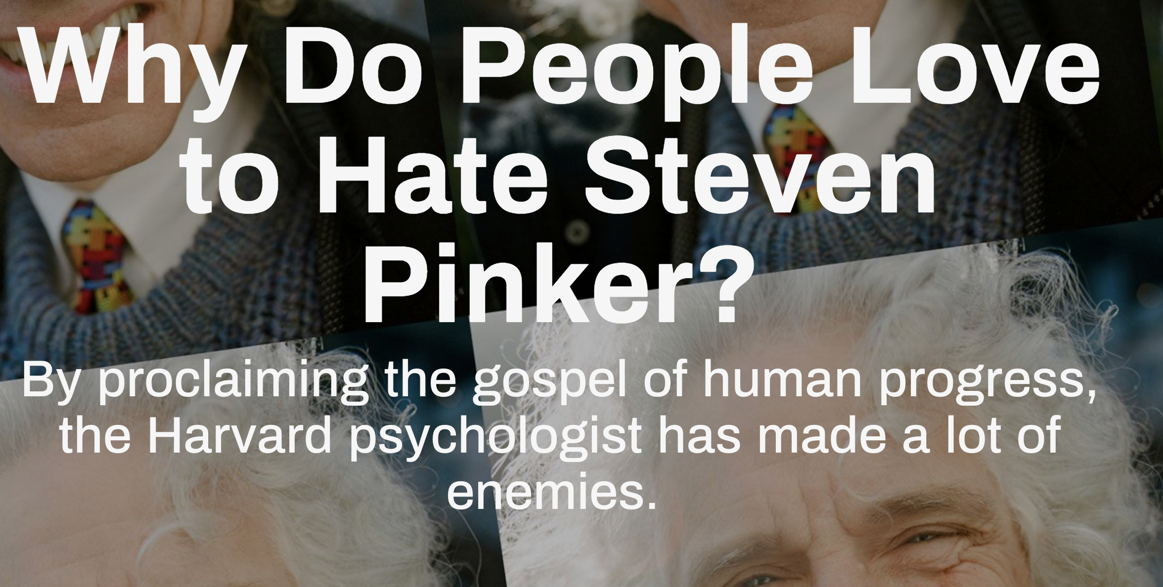 Why is Pinker demonized? « Why Evolution Is True