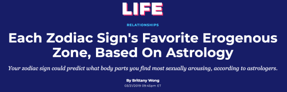 HuffPost pushes erotic astrology « Why Evolution Is True
